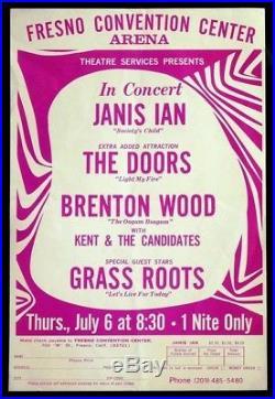 THE DOORS Janis Ian GRASS ROOT Original 1967 Concert Handbill / Flyer