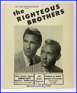 THE RIGHTEOUS BROTHERS Original 1965 Cardboard Boxing Style Concert Poster