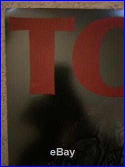 TOOL Concert Tour Poster Print 2017 Bangor Maine Embossed Felt Adam Jones Rare