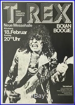 T-Rex Marc Bolan Boogie German Concert Poster 1973