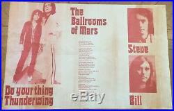 T-Rex Marc Bolan Original Promo Concert Tour Gig Poster Autumn Tour 1972