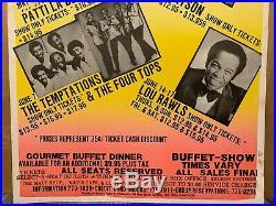 Temptations Peabo Lou Rawls Original Boxing Style Soul Cardboard Concert Poster