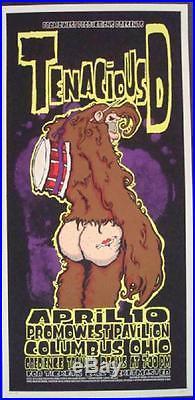 Tenacious D Columbus Oh 2002 Concert Poster Silkscreen Original Jack Black