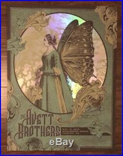 The Avett Brothers 5/15/2016 Fairfax VA Concert Poster Rainbow Foil Variant X/25