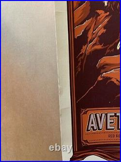 The Avett Brothers Red Rocks 2011 Mega Rare Concert Poster / Show edition