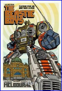 The Beastie Boys Melbourne Australia Concert Poster Original Rhys Cooper