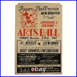 The Beatles 1962 Tower Ballroom Arts Ball Concert Poster (UK)