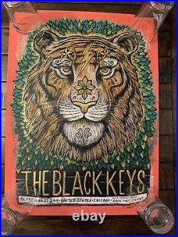 The Black Keys 2014 Chicago Poster Grzeca Concert Poster Signed And Numbered