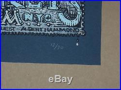 The Black Keys David Welker concert poster print signed Variant NYC New York