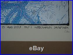 The Black Keys Malleus signed numbered concert poster screen print Copenhagen