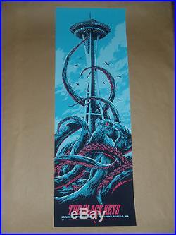 The Black Keys Seattle Ken Taylor concert poster print 2014 Turn Blue tour