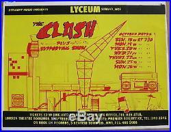 The CLASH Lyceum Theatre LONDON 1981 UK Original PUNK CONCERT POSTER Sex Pistols