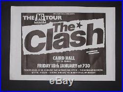 The Clash 16 Tons Original 1980 Dundee punk concert gig poster 45x32cm