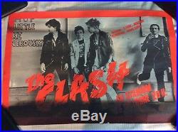 The Clash Au Stadium French Concert Poster October 16 1978 Vintage Original Rare