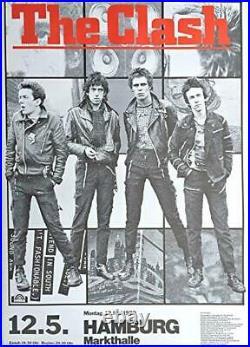 The Clash Concert Poster 1980 Hamburg ORIGINAL Printing