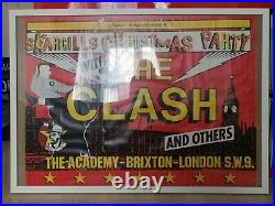 The Clash Original Concert Poster Scargills Christmas Party Brixton Miners 1984