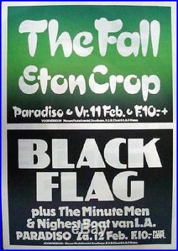 The Fall Black Flag Amsterdam Concert Poster 1983 Original