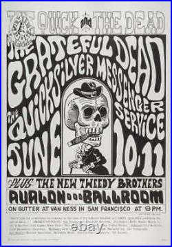 The Grateful Dead at The Avalon Ballroom 1966 Concert Poster by Wes Wilson