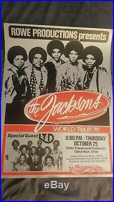 The Jacksons Michael Jackson Very Rare Original First Printing Concert Poster