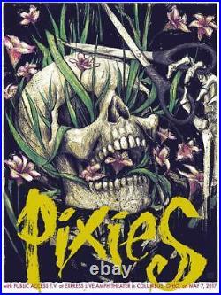 The Pixies 2017 Columbus Concert Silkscreen Nakatomi Poster #47/75 Bjorn Signed