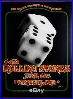 The Rolling Stones Authorized Vintage Original Winterland Concert Poster 1972