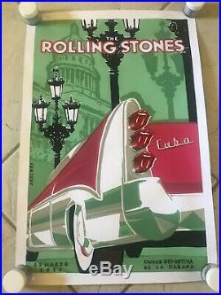 The Rolling Stones Poster Havana Cuban Concert 25 March 2016 Original