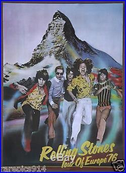 The Rolling Stones Vintage Original European Tour Concert Poster 1976