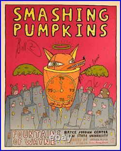 The Smashing Pumpkins BAND SIGNED Concert Poster 1/29/97 Penn State U