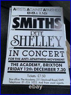 The Smiths Final Concert Poster Brixton 1986 Original Morrissey