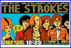 The Strokes Concert Poster 2001 Jermaine Rogers