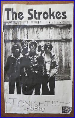 The Strokes First los Angeles Concert Poster Dragonfly Rough Trade Original