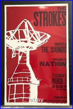 The Strokes Hatch Show Print Concert Poster @ Nation, Washington, DC 2004 RARE