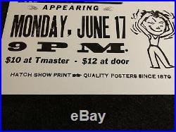 The Tragically Hip Hatch Show Print Concert Poster @ Ace of Clubs Nashville 1996