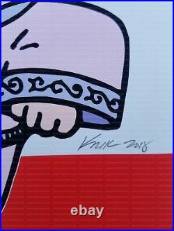 The White Stripes Concert Poster Frank Kozik Signed Philly 2002