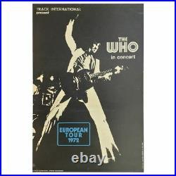 The Who 1972 European Tour Concert Poster (UK)