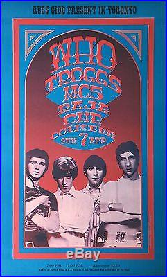 The Who Russ Gibb 1968 CNE Coliseum Original Fillmore-Era Concert Poster