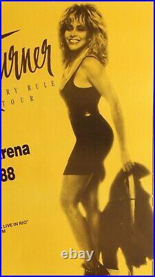Tina Turner 1988 Original Vintage Hawaii Concert Posters Break Every Rule Tour
