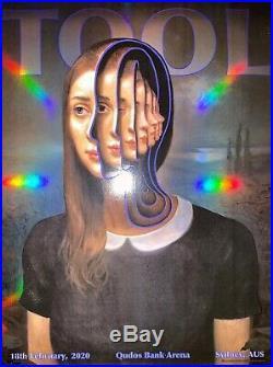 Tool Poster Sydney Australia Qudos Bank 2020 Miles Johnson /500 concert tour
