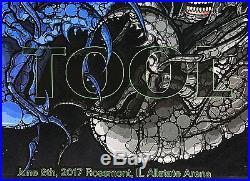 Tool concert poster rosemont 6/8 2017 allstate arena 517/600 maynard j. Keenan