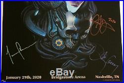 Tool signed poster nashville concert 2020 adi granov art fear inoculum