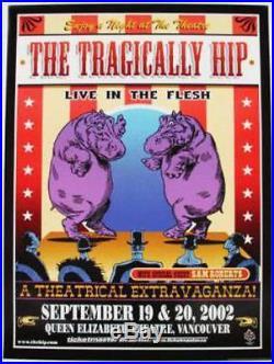 Tragically Hip Vancouver 2002 Concert Poster Original Rare
