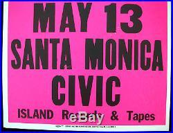 U2 Santa Monica Civic 1981 US Original Cardboard Boxing Style Concert POSTER