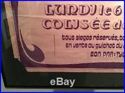 Ultra rare original 1972 deep purple concert poster
