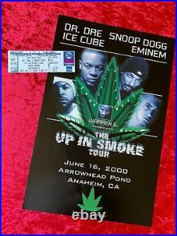 Up In Smoke Tour 2001 Concert Tour Concert Ticket & Promo Poster Vintage Rare