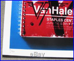 VAN HALEN Staples Center Los Angeles, CA 2012 Concert / Gig Poster #'d 31/250