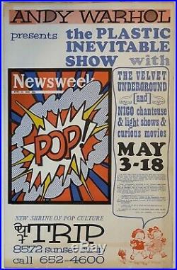 VELVET UNDERGROUND & NICO / ANDY WARHOL Original 1966 THE TRIP CONCERT POSTER