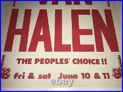 Van Halen Authentic Unused Concert Show Gig Poster June 1977 Whisky Eddie RARE