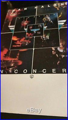 Van Halen In Concert 1978 Promo Poster 14x22 VERY RARE