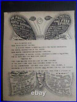 Velvet Underground & Nico 1966 2 Concert Ad Poster Flyer Andy Warhol Factory