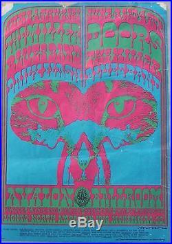 Vintage 1967 The Doors Miller Blues Band Family Dog Original Concert Poster